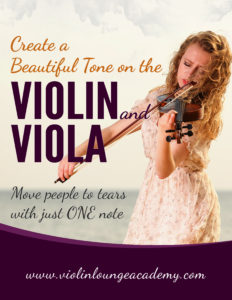 Create a beautiful tone on the violin
